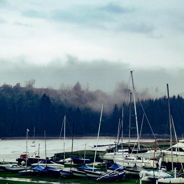 """""""Kippford harbour"""" stock image"""