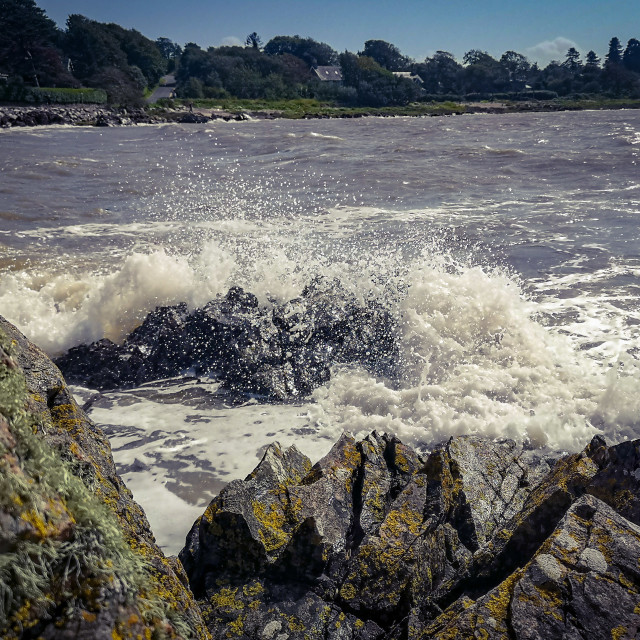 """""""Waves on the rocks"""" stock image"""