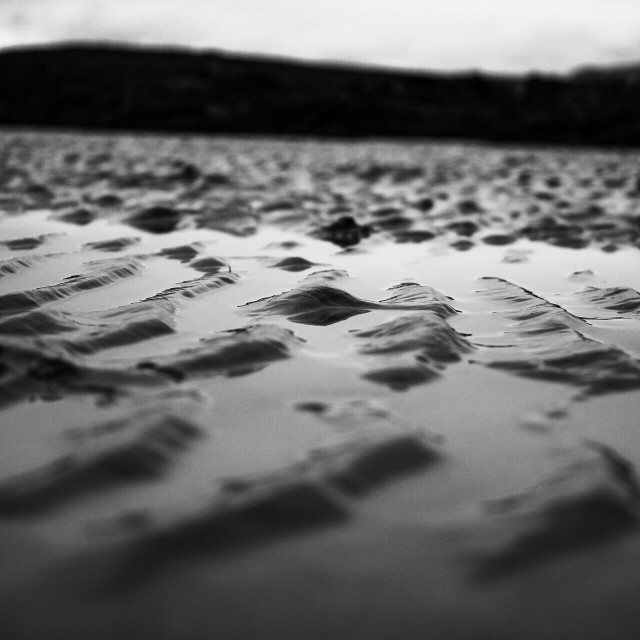 """Black and white sand shot"" stock image"
