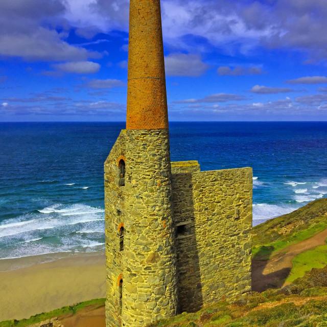 """""""Wheal Coates Mine Cornwall"""" stock image"""