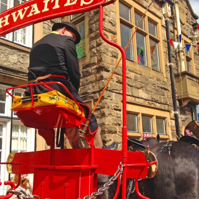 """""""Thwaites Dray Horse Lancashire"""" stock image"""