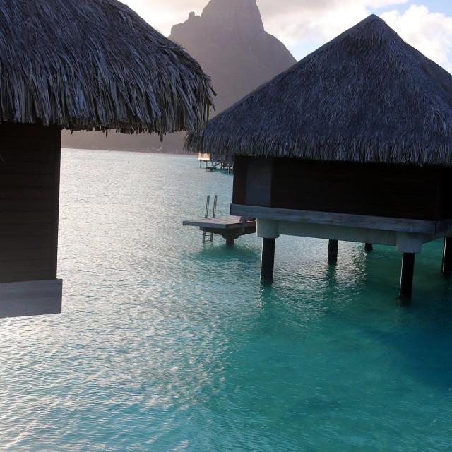 """Hotel intercontinental, Bora-Bora"" stock image"