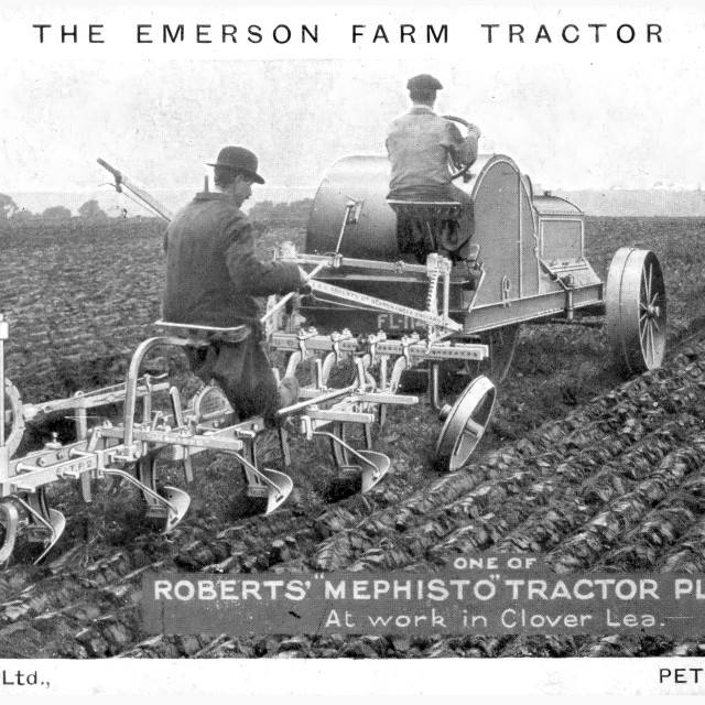 """""""Brainsbys Tractor - Promotional Card"""" stock image"""