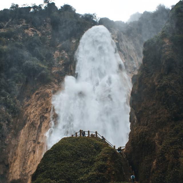 """El Chiflon Waterfalls in Chiapas, Mexico"" stock image"