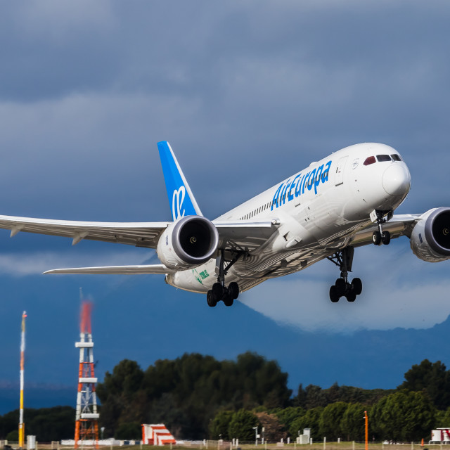 """Boeing B787 Air Europa EC-MIG"" stock image"