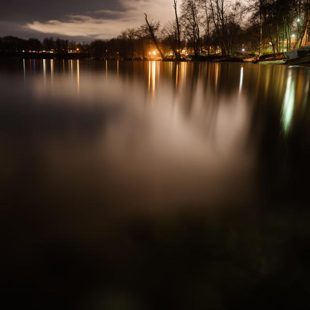 """Coastline At Night I (Pispala)"" stock image"