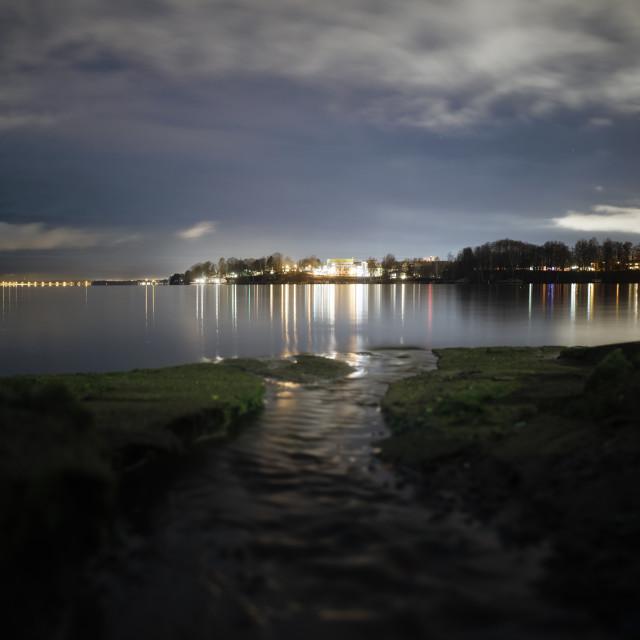 """""""Coastline At Night III (Pispala)"""" stock image"""