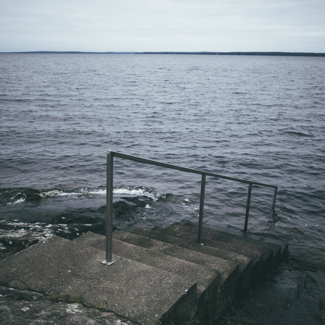 """""""Santalahti Coastline I (Stairs)"""" stock image"""