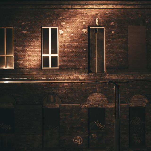 """Lielahti At Night IV (Factory)"" stock image"