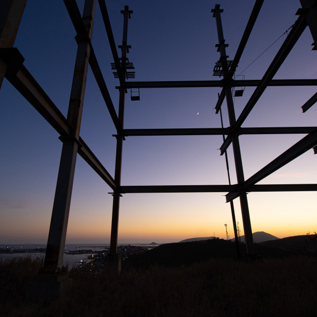 """""""end of the day at the construction site"""" stock image"""