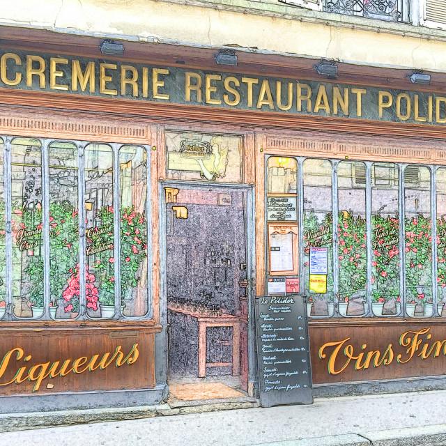 """Polidor restaurant Paris artphoto"" stock image"