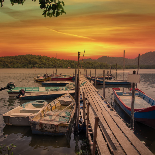 """""""the wooden jetty"""" stock image"""
