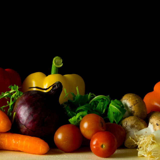 """Vegetable still life"" stock image"