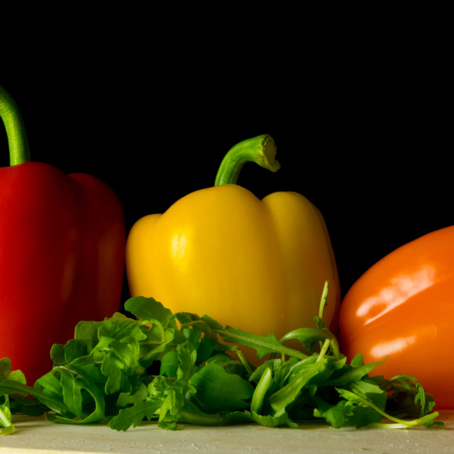 """Peppers and rocket salad"" stock image"