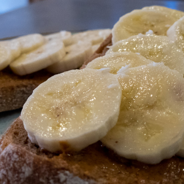 """Banana on sourdough"" stock image"