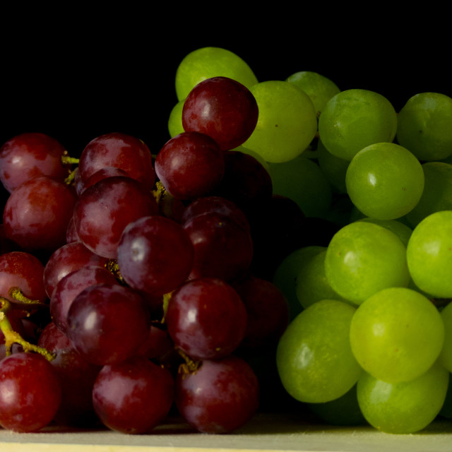 """Red and white grapes"" stock image"
