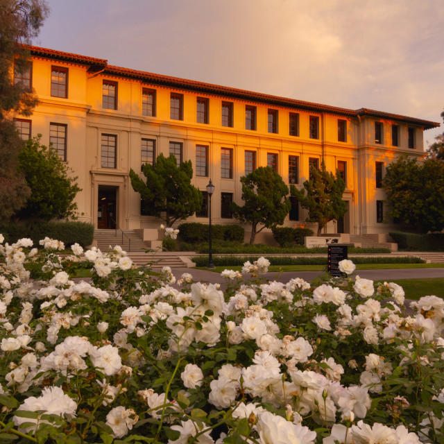 """""""Occidental College at Sunset"""" stock image"""