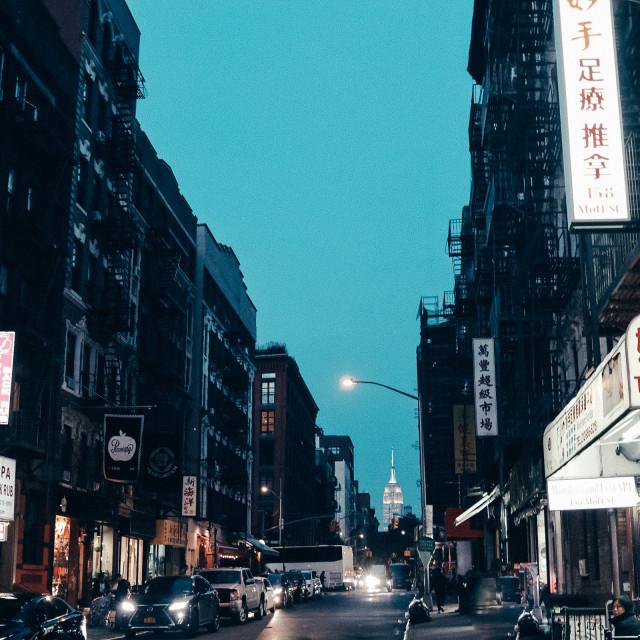 """""""Chinatown New York"""" stock image"""