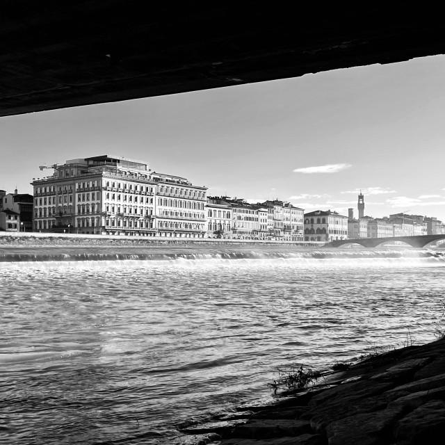 """""""Florence by the Arno river"""" stock image"""