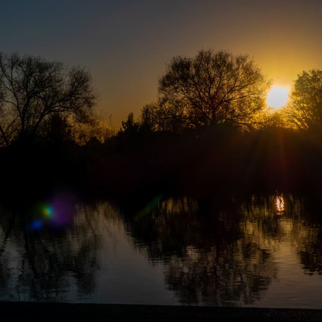 """""""Sunset over the River Trent"""" stock image"""