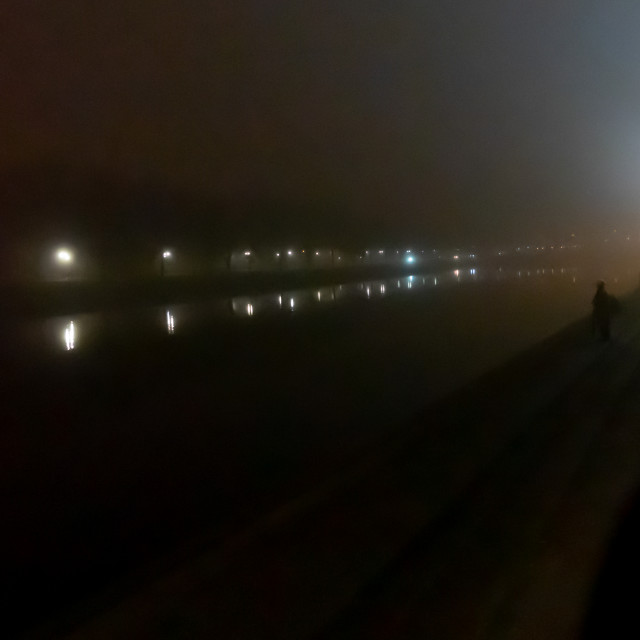 """Misty River Trent"" stock image"