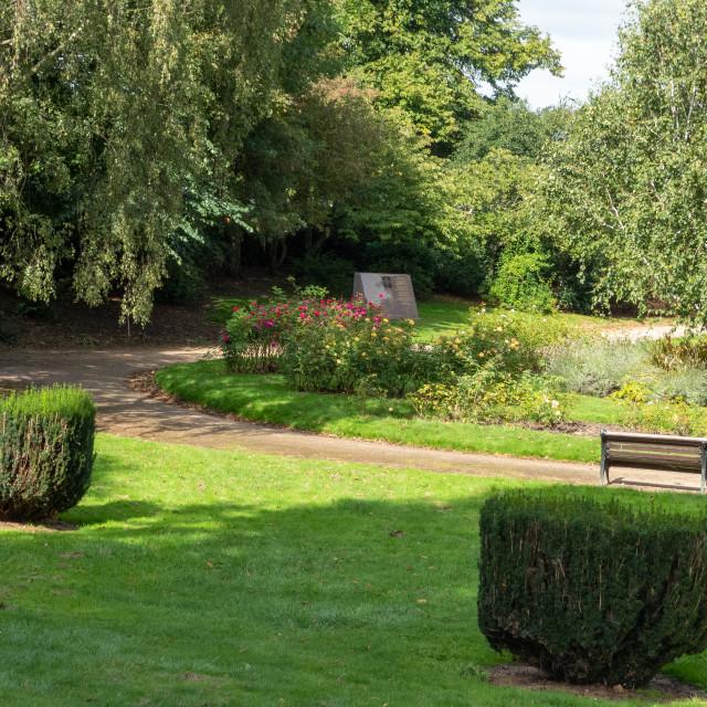 """""""Memorial Gardens, The Embankment, Nottingham"""" stock image"""
