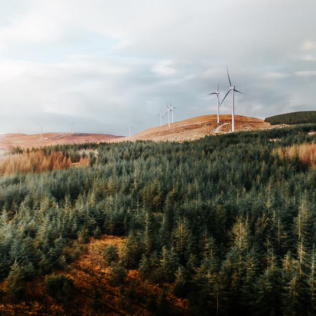 """""""Windmills of Doon East in Galway, Ireland"""" stock image"""
