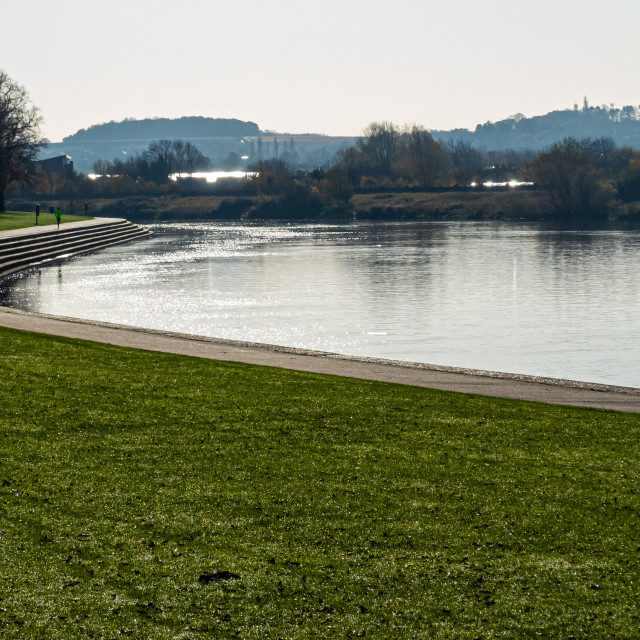 """The River Trent, Nottingham"" stock image"