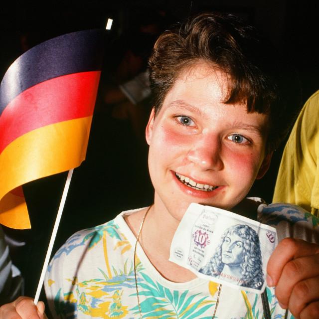 """DDR Wendejahr - German Democratic Republic"" stock image"