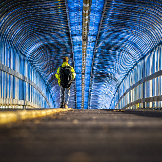 """""""Cycle Path from Cambridge South Train Station."""" stock image"""