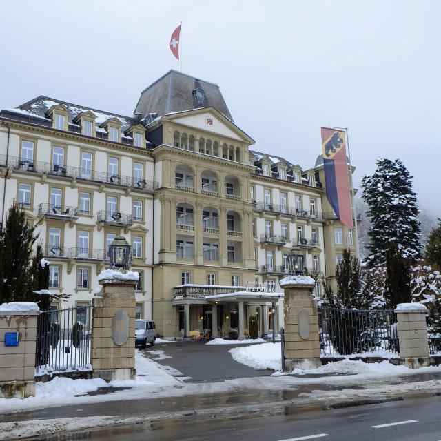 """Switzerland Interlaken in the winter"" stock image"