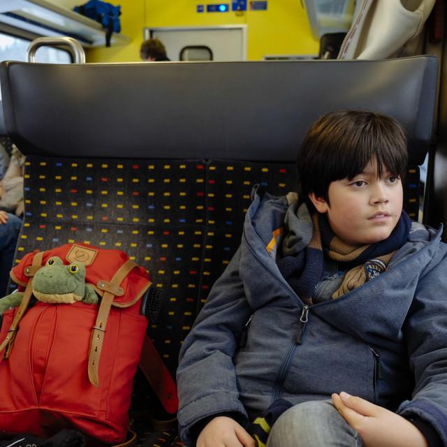 """""""Train Travel to Switzerland"""" stock image"""