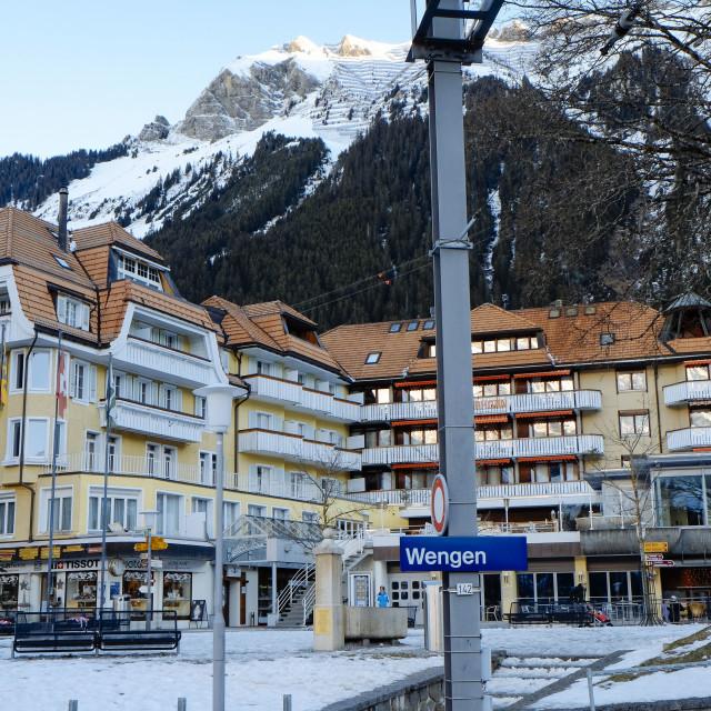 """""""Switzerland Jungfraubahn to Jungfraujoch in the winter"""" stock image"""