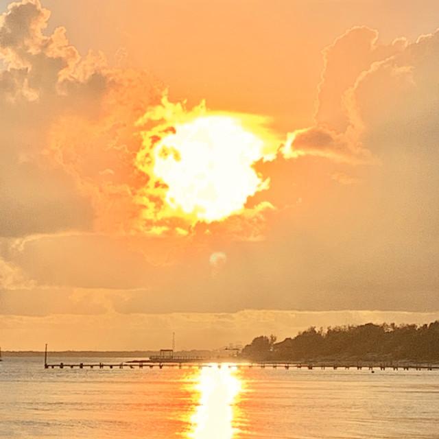 """Cancun sunset"" stock image"