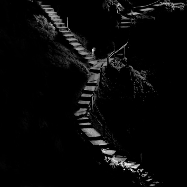 """""""Cave Staircase"""" stock image"""