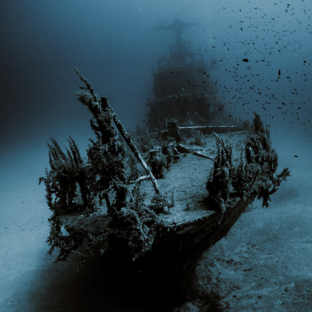 """P29 Wreck"" stock image"
