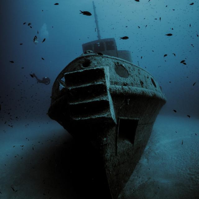 """""""Rozi Wreck in Malta"""" stock image"""