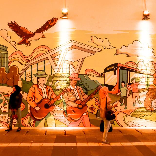 """""""Mural street art in Jakarta"""" stock image"""