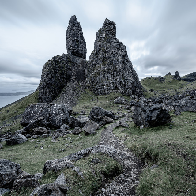 """The Storr. Isle of Skye"" stock image"