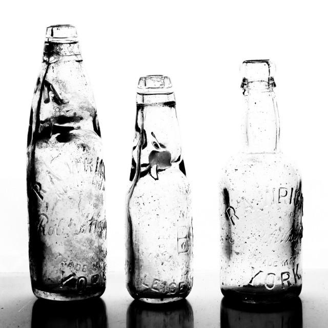 """Antique glass bottle"" stock image"