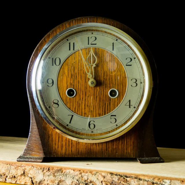 """Antique mantle clock"" stock image"