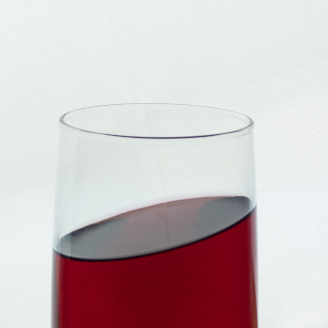 """""""Tilted wine"""" stock image"""