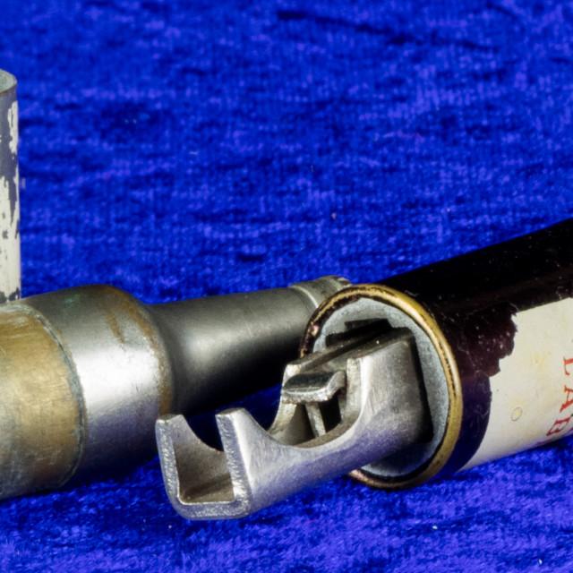 """""""Novelty bottle lighter and bottle opener"""" stock image"""