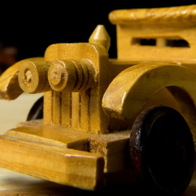 """""""Wooden Car"""" stock image"""