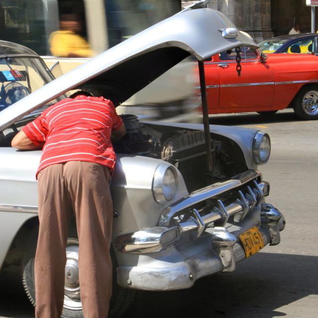 """""""Cuban Car Repair"""" stock image"""