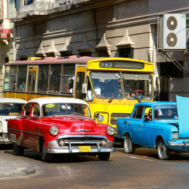 """""""Vintage cars in Cuba"""" stock image"""