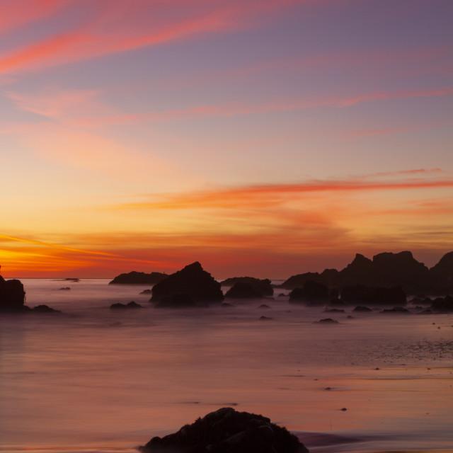 """Brilliant beach sunset"" stock image"