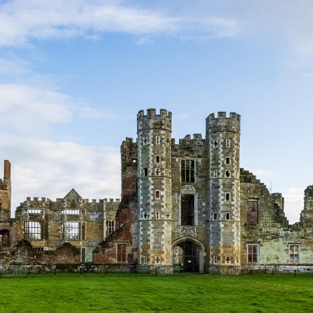 """Cowdray Castle ruins, Midhurst"" stock image"