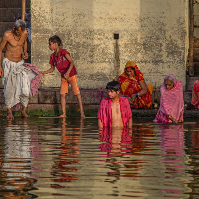 """GANGA RIVER BATH"" stock image"
