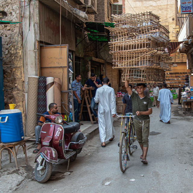 """CAIRO STREET LIFE"" stock image"